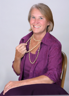 Jeane Slone with Pearl Necklace
